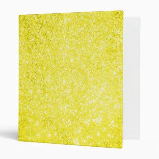 Glitter Yellow 3 Ring Binder