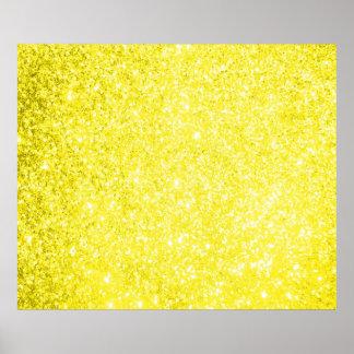 Glitter Yellow Poster
