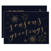 Glitterati Snowflakes Holiday Greeting Card