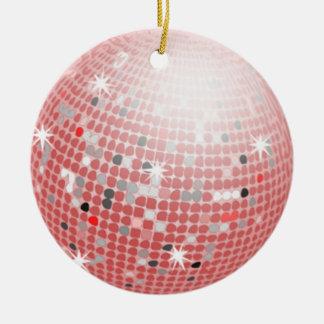 glitterball pink ornament