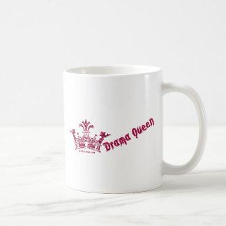 glittercrowndramaqueen taza básica blanca