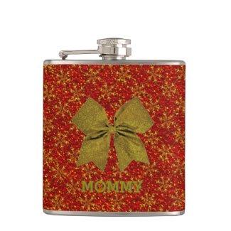 Glittered Christmas Hip Flasks