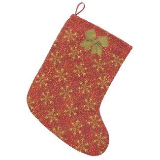 Glittered Christmas Small Christmas Stocking