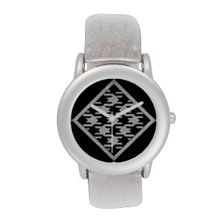Glittered Pied de Poule Wrist Watches