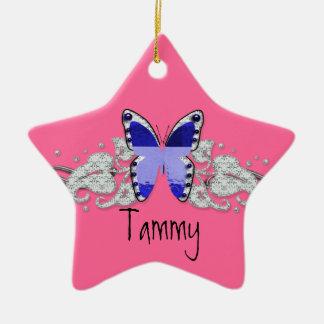 glitterfly grandkids ceramic ornament