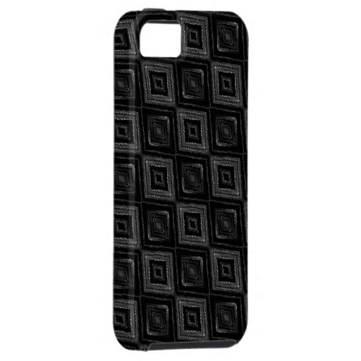 Glittering Black and Gray Diamond Pattern iPhone 5 Cover