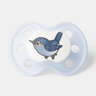 Glittering Blue Bird Baby Pacifier