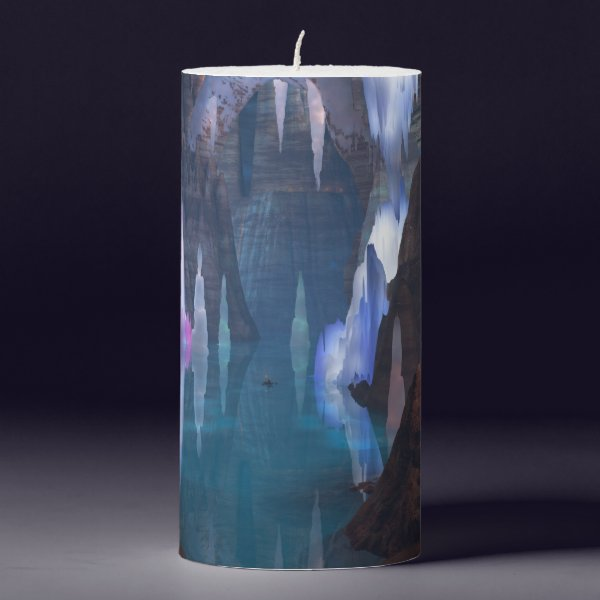 Glittering Caves by Night Candle