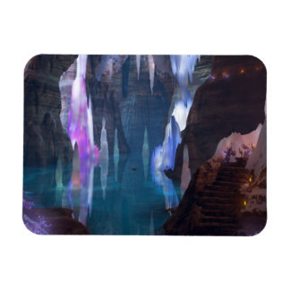 Glittering Caves by Night Flexible Magnet