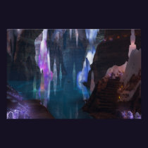 Glittering Caves by Night Print