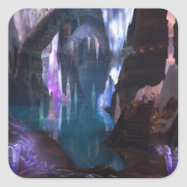 Glittering Caves by Night Stickers