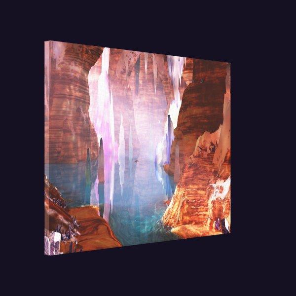 Glittering Caves Canvas Print