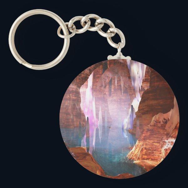Glittering Caves Keychain