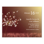 Glittering Dandelion Brown Save the Date Invites