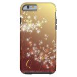 Glittering Dandelions Floral Monogram iPhone 6 Tough iPhone 6 Case