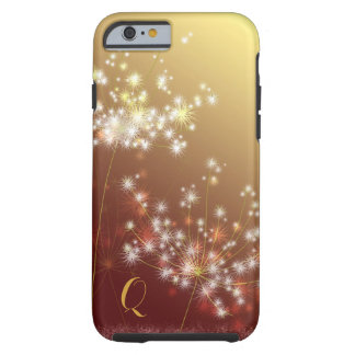 Glittering Dandelions Floral Monogram Tough iPhone 6 Case