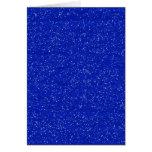 GLITTERING DARK ROYAL BLUE OCEAN WHITE SPARKLES TE GREETING CARD