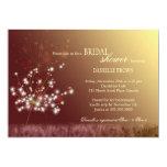 "Glittering Fall Twilight Dandelions Bridal Shower 5"" X 7"" Invitation Card"