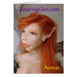 Glittering Glen Notecard - Aewyn Greeting Card