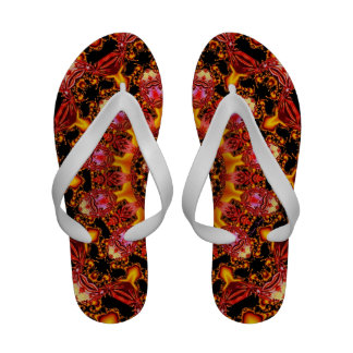 Glittering Gold, Abstract Amber Red Jewels Sandals