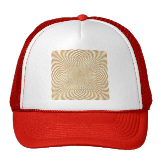 Glittering Gold Distorted Checkered Pattern Trucker Hat