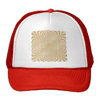 Glittering Gold Distorted Checkered Pattern Trucker Hat