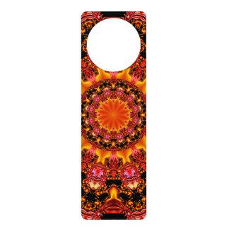 Glittering Gold Mandala, Abstract Red Orange Amber Door Hangers