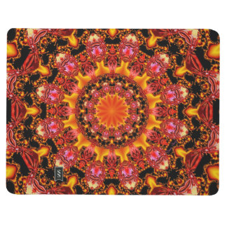 Glittering Gold Mandala, Abstract Red Orange Amber Journals