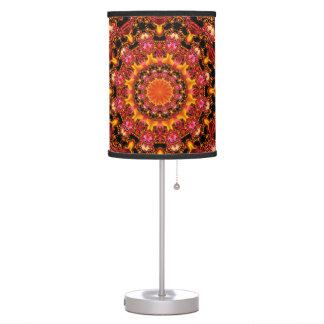 Glittering Gold Mandala, Abstract Red Orange Amber Desk Lamps