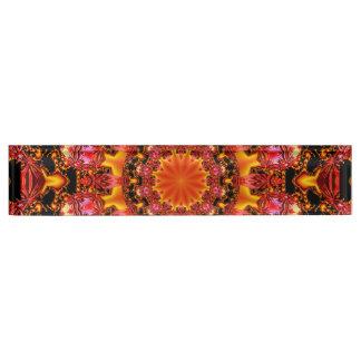 Glittering Gold Mandala, Abstract Red Orange Amber Desk Nameplate