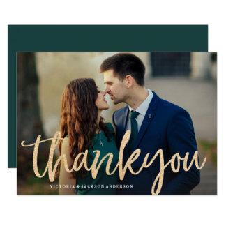 Glittering Gold Wedding Thank You Card
