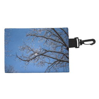 Glittering Ice and Snow Covered Trees Accessory Bag