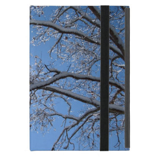 Glittering Ice and Snow Covered Trees Case For iPad Mini