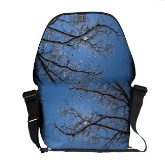 Glittering Ice and Snow Covered Trees Courier Bag