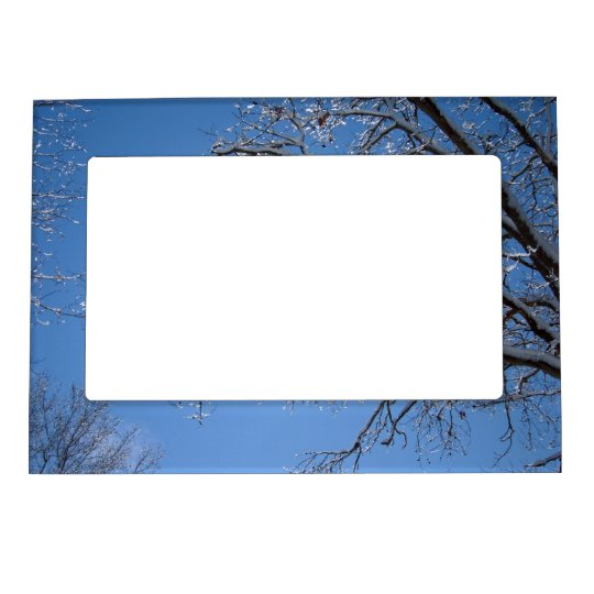 Glittering Ice and Snow Covered Trees Magnetic Photo Frame