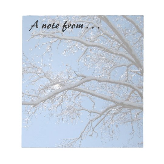 Glittering Ice and Snow Covered Trees Notepad