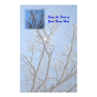 Glittering Ice and Snow Covered Trees Stationery