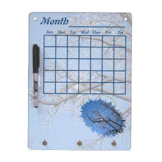 Glittering Ice Snow Covered Trees Dry Erase Board