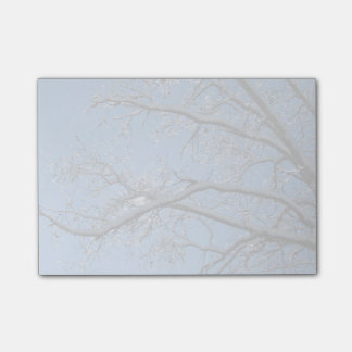 Glittering Ice Snow Covered Trees Post-it® Notes