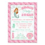 "Glittering  Mermaid Birthday Party Invitation 5"" X 7"" Invitation Card"