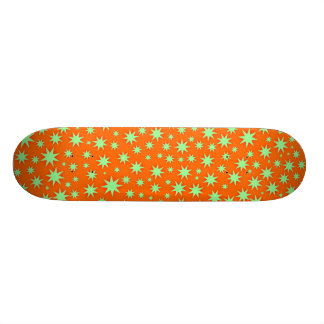 Glittering Orange - Retro Skateboard Deck