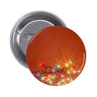 Glittering seasonal lights 2 inch round button