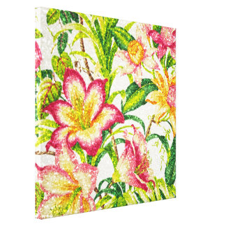 Glittering Spring Floral Tapestry Canvas Print