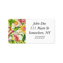 Glittering Spring Floral Tapestry Label
