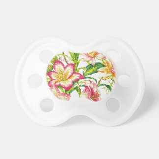 Glittering Spring Floral Tapestry Pacifier