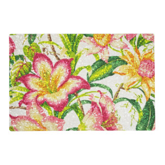 Glittering Spring Floral Tapestry Placemat
