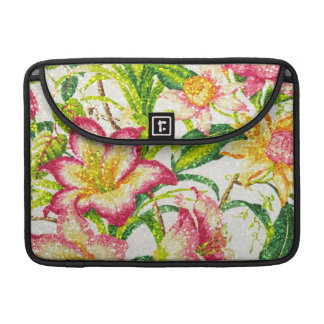 Glittering Spring Floral Tapestry Sleeves For MacBooks
