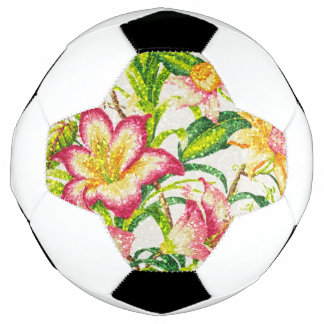 Glittering Spring Floral Tapestry Soccer Ball