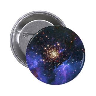 Glittering Star Cluster and Interstellar Gas Cloud Pin