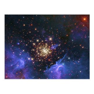 Glittering Star Cluster and Interstellar Gas Cloud Post Card